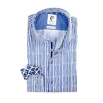 R2 Cut Away Collar Shirt Blue Stripe