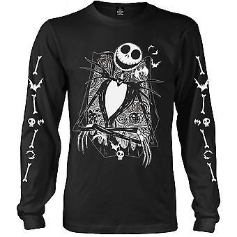 Longsleeve Nightmare Before Christmas Crossed Official T-Shirt Unisex