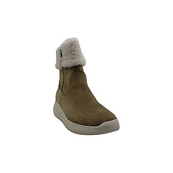 Anne Klein Women's Shoes Frizby Suede Almond Toe Ankle Cold Weather Boots