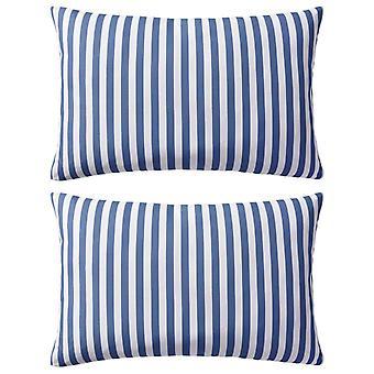 vidaXL cojín de jardín 2 piezas. patrón de rayas 60 x 40 cm azul marino