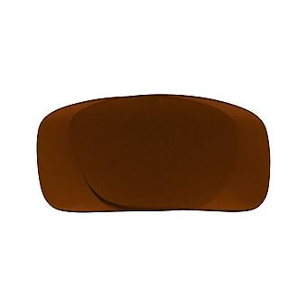 عدسات استبدال ل Oakley حفرة الثور النظارات الشمسية المضادة للخدش البني الداكن