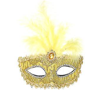 YANGFAN Diamond Feather Lady Party Masquerade Mask