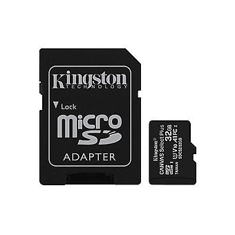 Kingston canvas select plus microsd card sdcs2/32 gb class 10 (sd adapter included) 32 gb sd adapter