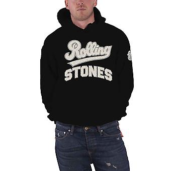 The Rolling Stones Hoodie Band Logo Applique Tongue Official Mens Black Pullover