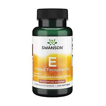 Vitamin E Mixed Tocopherols 200 IU 250 softgels of 134mg