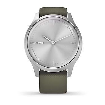 Garmin 010-02240-01 Vivomove Silver Aluminium Case & Moss Silicone Band Watch