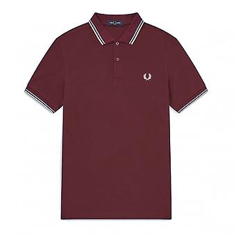 Polo Fred Perry Twin Tipped FP Shirt Bordeaux