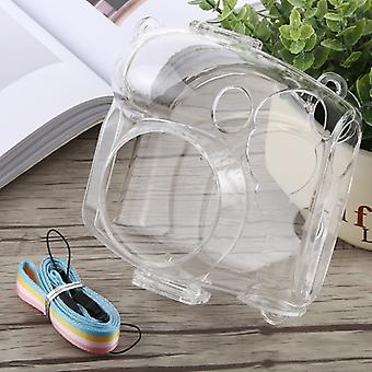 Protective Crystal Shell Case with Strap for FUJIFILM instax mini 7S (Transparent)