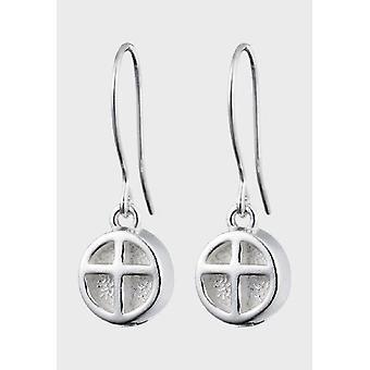 Kalevala Earrings Women's Lighthouse Cross Silver 2670110K