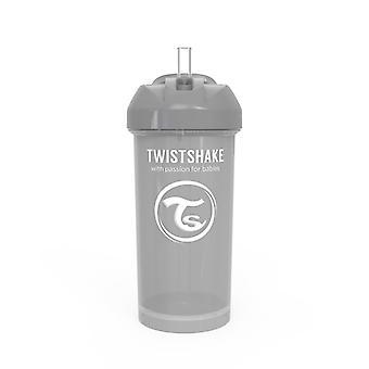 Twistshake Straw Cup 360ml Pastel Grey