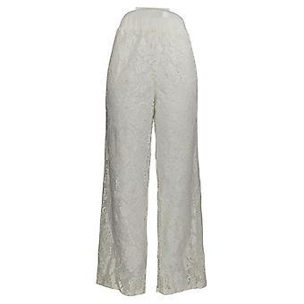 Linea Por Louis Dell'Olio Women's Pantalones Pull-On Encaje Marfil A349652