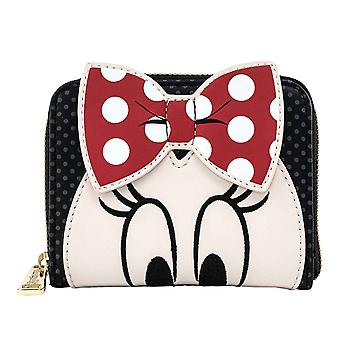 Disney Zip Around Purse Minnie Mouse Bow nouveau Loungefly officiel