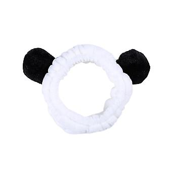 3pcs Cute Style Soft Headband Hairlace for Shower Makeup Washing Face (Noir)