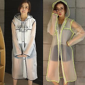 New Fashion Women's Transparent Eva Plastic Raincoat Travel Waterproof Rainwear