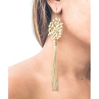Golden Laurel Bombay Sunset Long Earrings