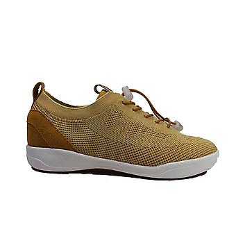 Josef Seibel Sina 65 Yellow Textile Womens Lace Up Trainers