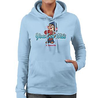 Ein amerikanischer Schwanz Fievel Mousekewitz Sie haben diese Frauen's Kapuzen Sweatshirt