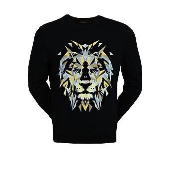 Antony Morato Men's Long Sleeve Lion Sweatshirt Noir