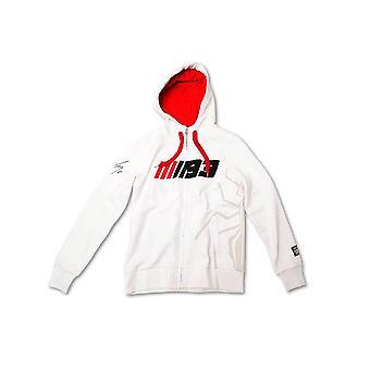 Marquez 93 White Ladies Zip Fleece Hoodie