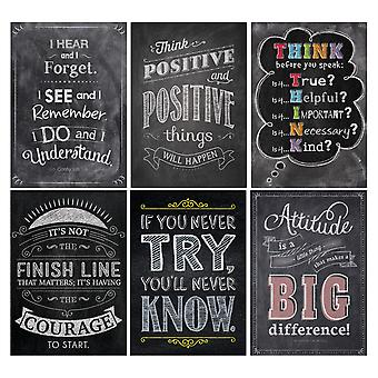 Inspire U Chalk Posters Pack, 6 Posters