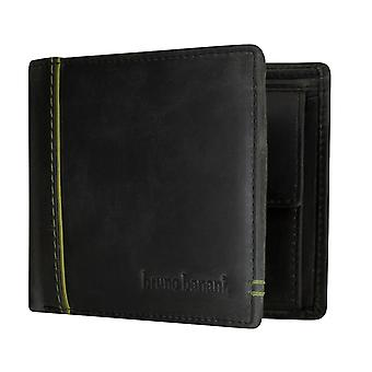 bruno banani mannen portemonnee portemonnee zwart / groen 3774