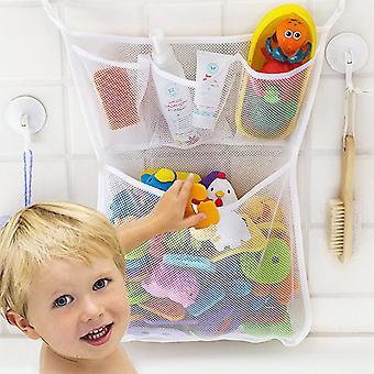 Baby bad legetøj opbevaring med suckers mesh net taske