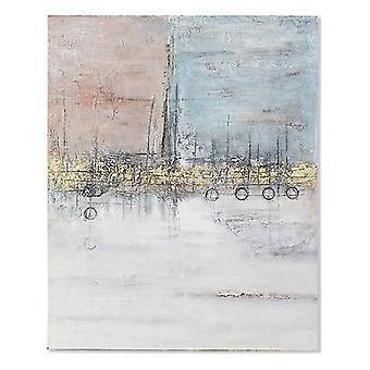 Pintura Dekodonia Acrilic Wood Modern Canvas (120 x 3 x 150 cm)