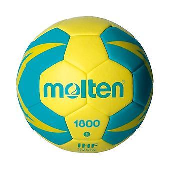 Ball for håndball smeltet H1X1800-YG lær (størrelse 1)