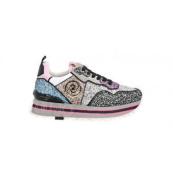 Shoes Sneaker Liu-jo Maxi Wonder Glitter Multicolor Woman Ds21lj10