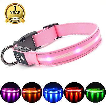 Masbrill világít kutya nyakörv vízálló usb újratölthető, led villogó kutya nyakörv éjszakai wof20393