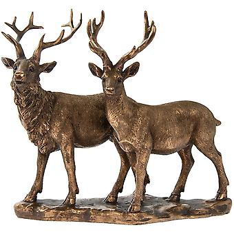 Lesser & Pavey Reflections Bronze Stag & Deer
