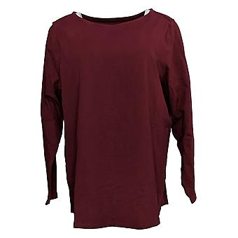 Denim & Co. Women's Top Essentials Jersey Boatneck W/ Ourlet incurvé A388940