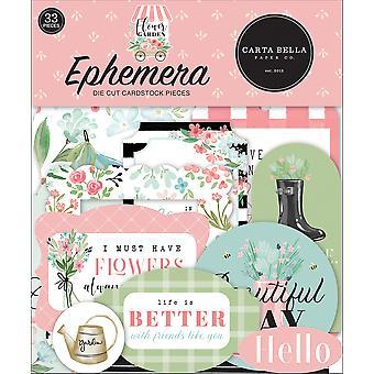 Carta Bella Kukka Puutarha Ephemera