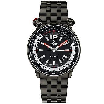 Gevril Wallabout Automatic Black Dial Men's Watch 48562