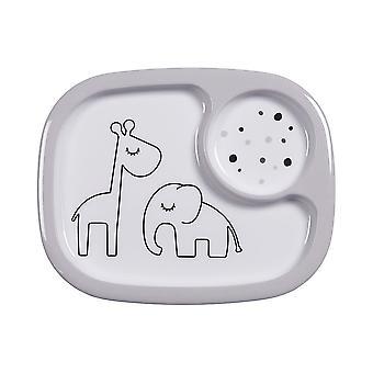 Gjort av Rådjur Smaskig Mini Compartment Plate Dreamy Dots Grey