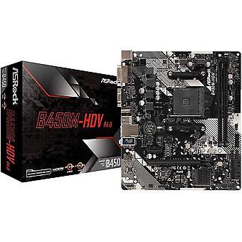 Wokex B450M-HDV R4.0 Sockel AM4/ AMD Wokexntory B450/ DDR4/ SATA3 & USB3.1/ m.2/