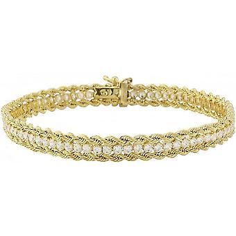 Mark Milton Crystal Rope Armband - Guld/Klart