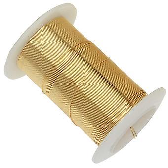 عناصر سلكية، أسلاك نحاسية مقاومة للألوان الذهبية، قياس 26 ياردة 34 ياردة (31 مترا)