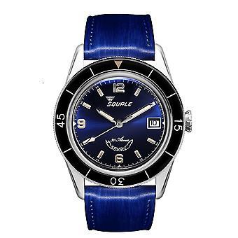 Squale SUB39BL Blue 300 Meter Swiss Automatic Dive Wristwatch