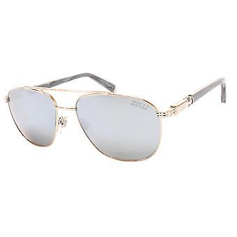 ZILLI Sunglasses Titanium Acetate Bright Silver Polarized France ZI 65020 C07