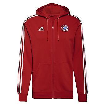 2021-2022 Bayern Munich 3S Hooded Zip (Red)