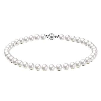 Original McPearl pearl necklace with ball closure. Quality top. and Silver, code #560(5)
