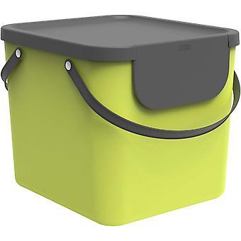 Albula Mülltrennungsystem 40l für die Küche, Kunststoff (PP) BPA-frei, hellgrün/anthrazit, 40l
