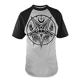 Darkside - PENTAGRAM BAPHOMET - Heren Baseball stijl T-Shirt