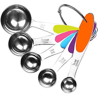 Stainless Steel Measuring Spoons 5 Piece Stackable Set