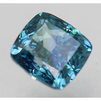 Cert 0.77 Carat Vivid Blue VVS1 Coussin Amélioré Diamant Naturel 5.07x4.8mm 2EX