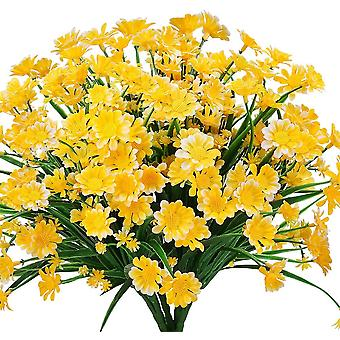 4 stuks kunstmatige daisy bloemen kunstmatige bloemen groene plastic struiken nep bloemen binnen buiten (wit)