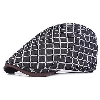 כובע שטוח קיץ משובץ כומתה נוער כובע יוניסקס