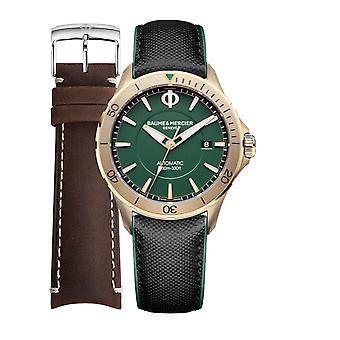 Baume & mercier watch clifton special pack + extra bracelet m0a10503