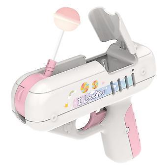 Candy Surprise Lollipop Gun Same Creative Gift For Boy Friend Children Toy Girl Friend Gift(Pink)